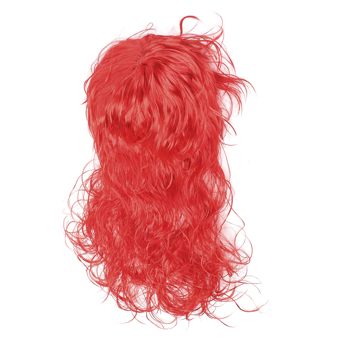 Costume Party Cosplay Red Long Curly Hair Wig Hairpiece with Bangs