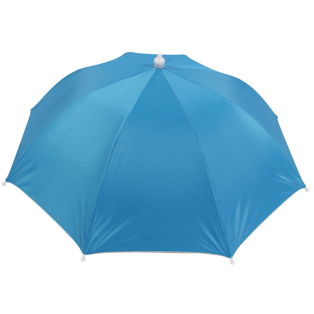 "28"" Diameter 8 Ribs Foldable Polyester Fishing Umbrella Hat Skyblue"