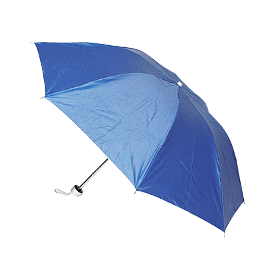 Telescopic Metal Shaft Water Resistant Canopy 3 Foldable Umbrella Blue