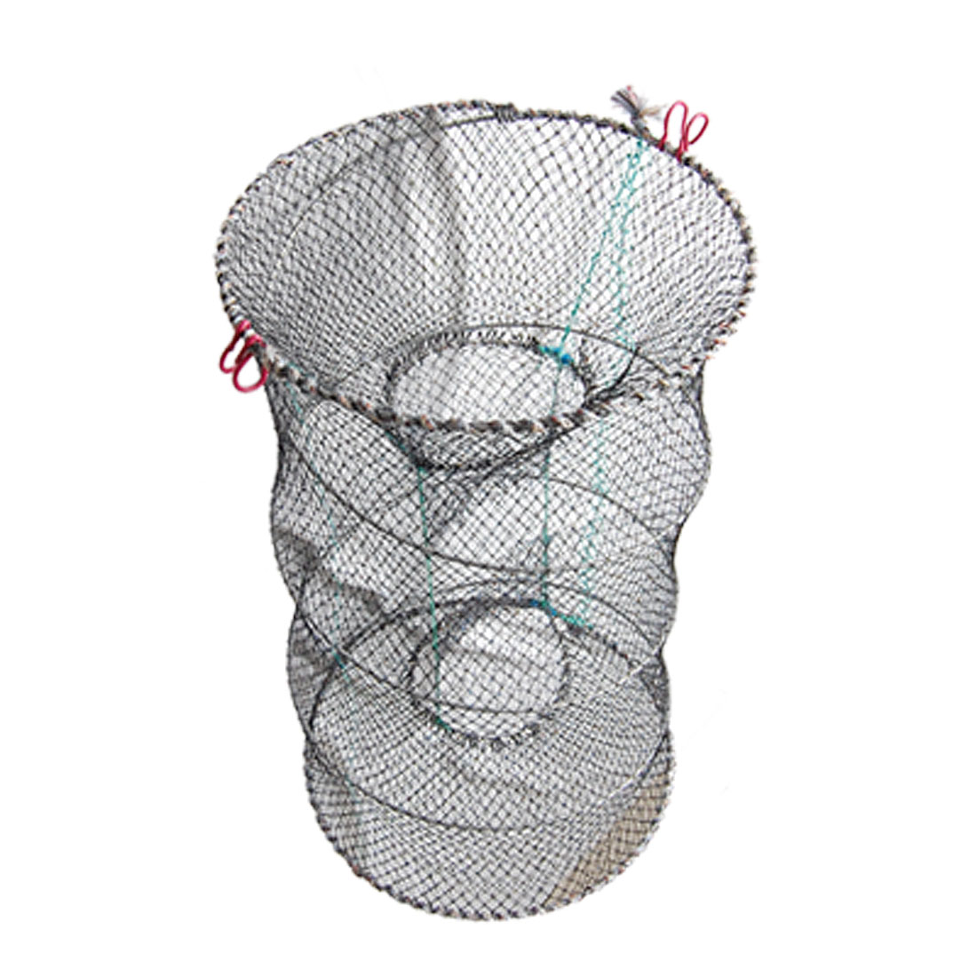 Nylon Crawfish Shrimp Crab Double Entrance Fishing Net Black