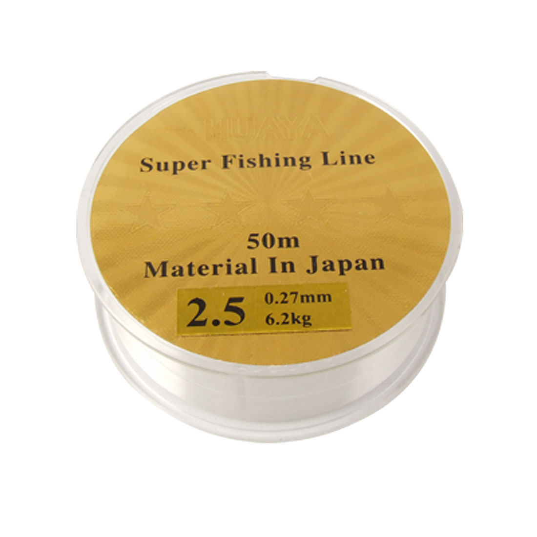 2.5# Clear Nylon 0.27mm Diameter 6.2Kg Freshwater Fishing Line 50m
