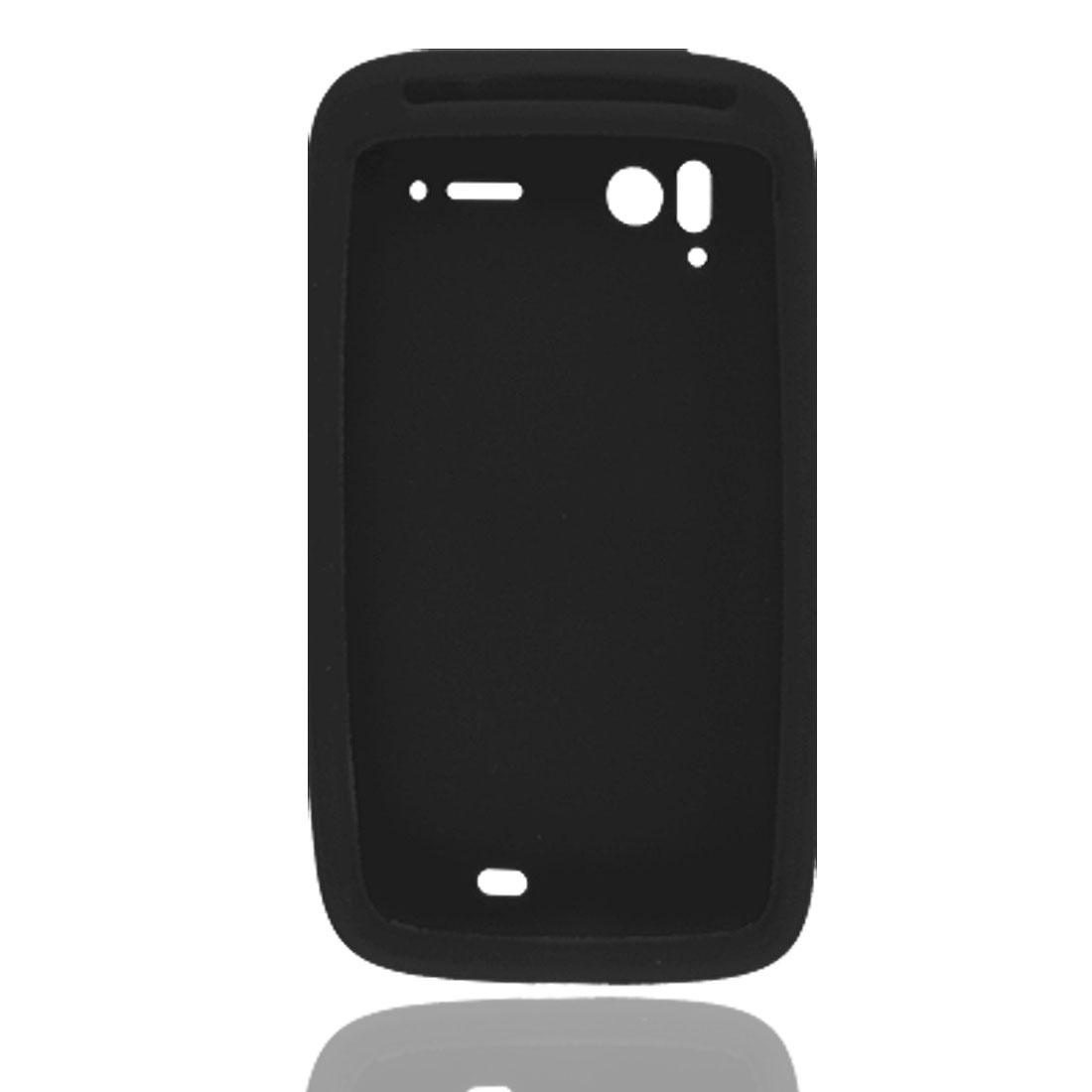 Black Silicone Skin Shield Case for HTC Sensation Pyramid