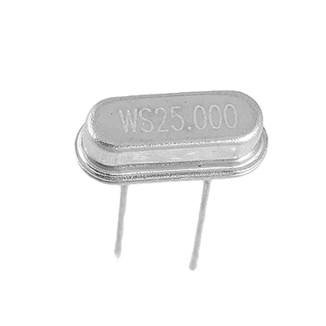50 x 25.000MHz 25M Hz Crystal Oscillator HC-49S Low Profile