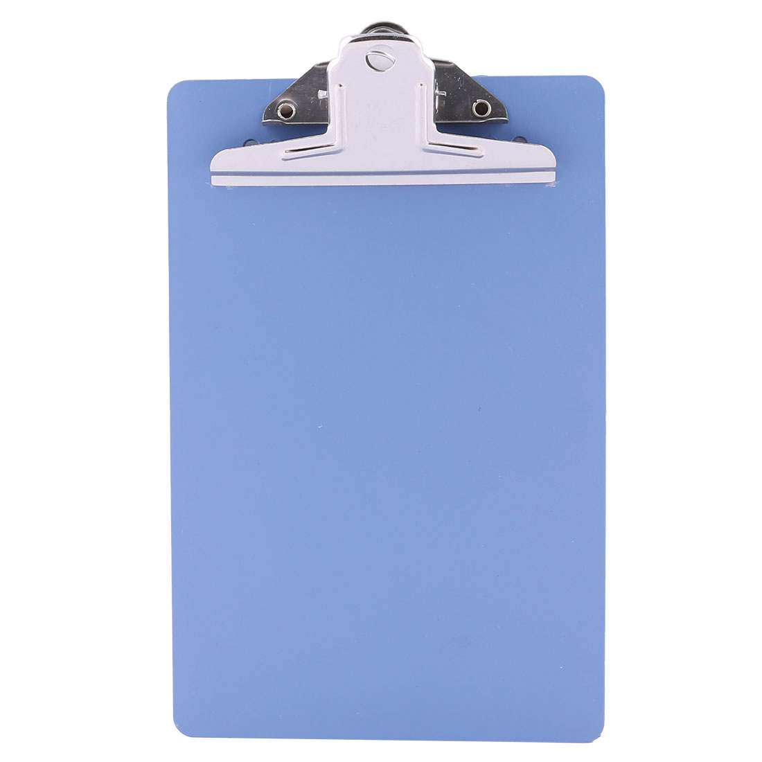Restaurant Memo Paper Holder Blue Plastic Rectangle Board w Metal Clip