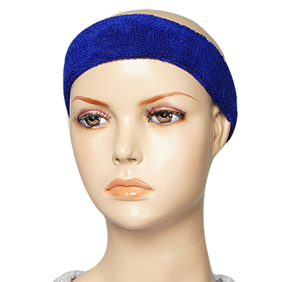 Blue Athlete Sweatband Tennis Sports Protective Elastic Head Band