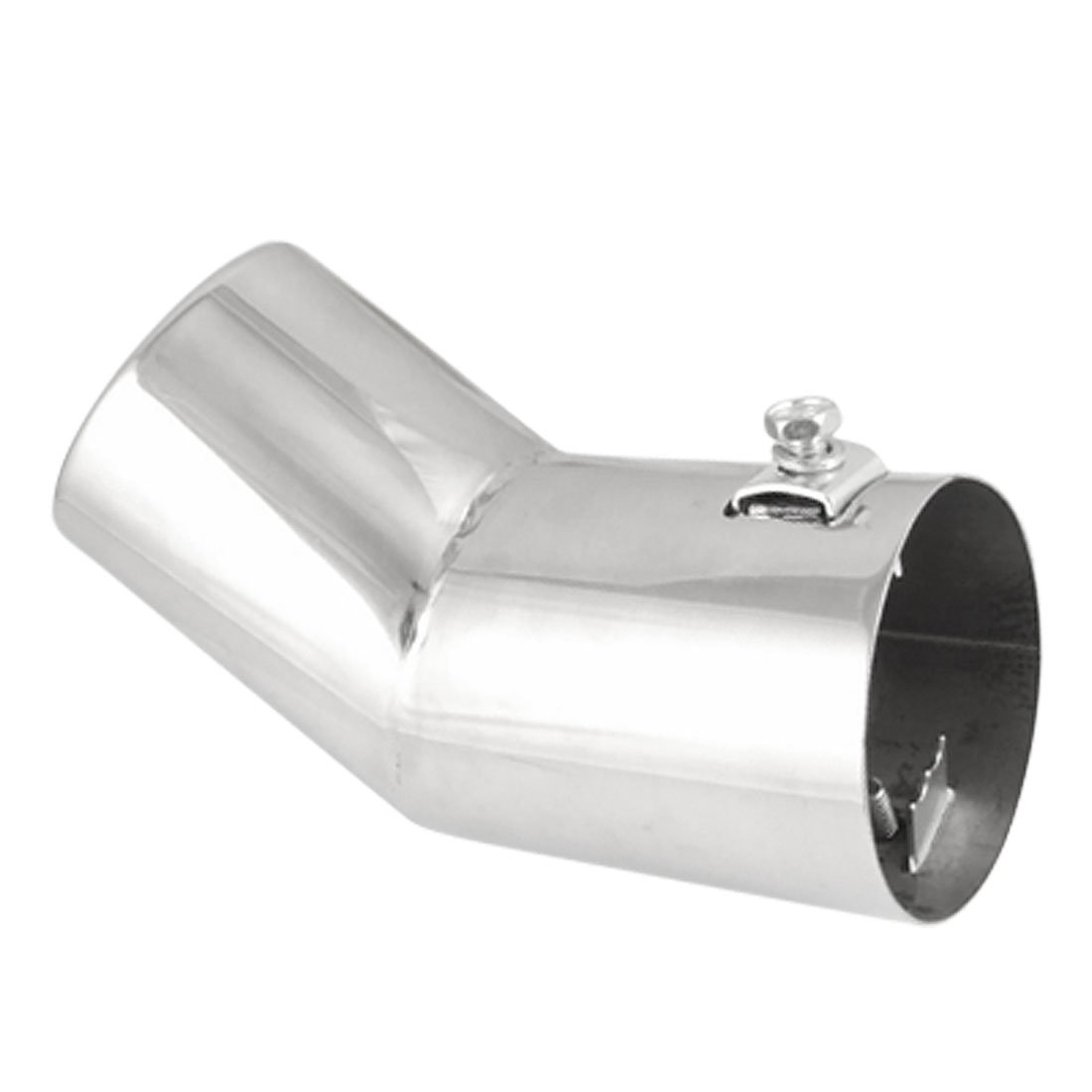 "Car Rolled Edge 2.4"" Inlet Metal Bent Exhaust Muffler Tip"