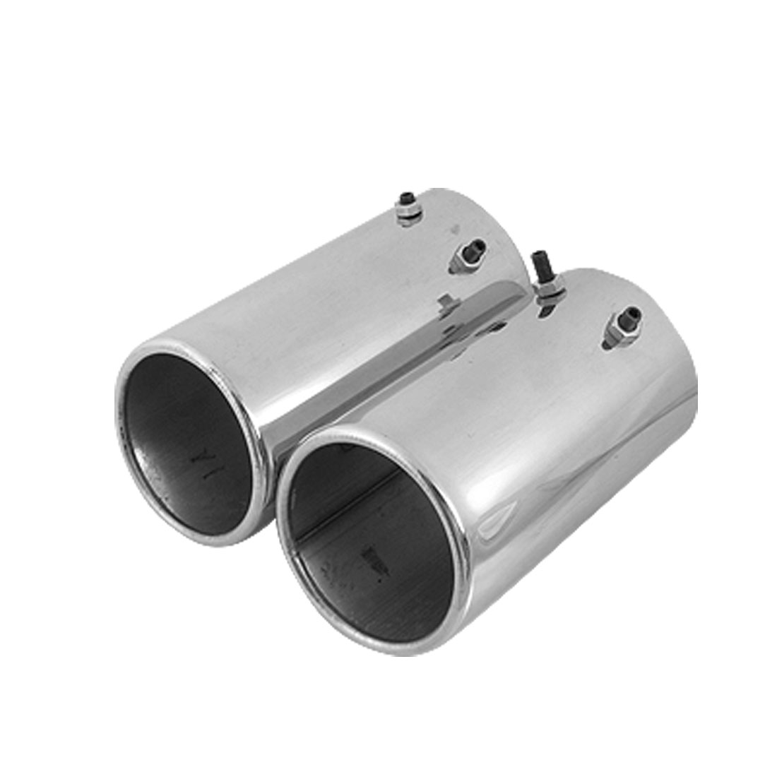 "3"" Outlet Dual 2.6"" Inlet Slant Cut Round Exhaust Muffler"