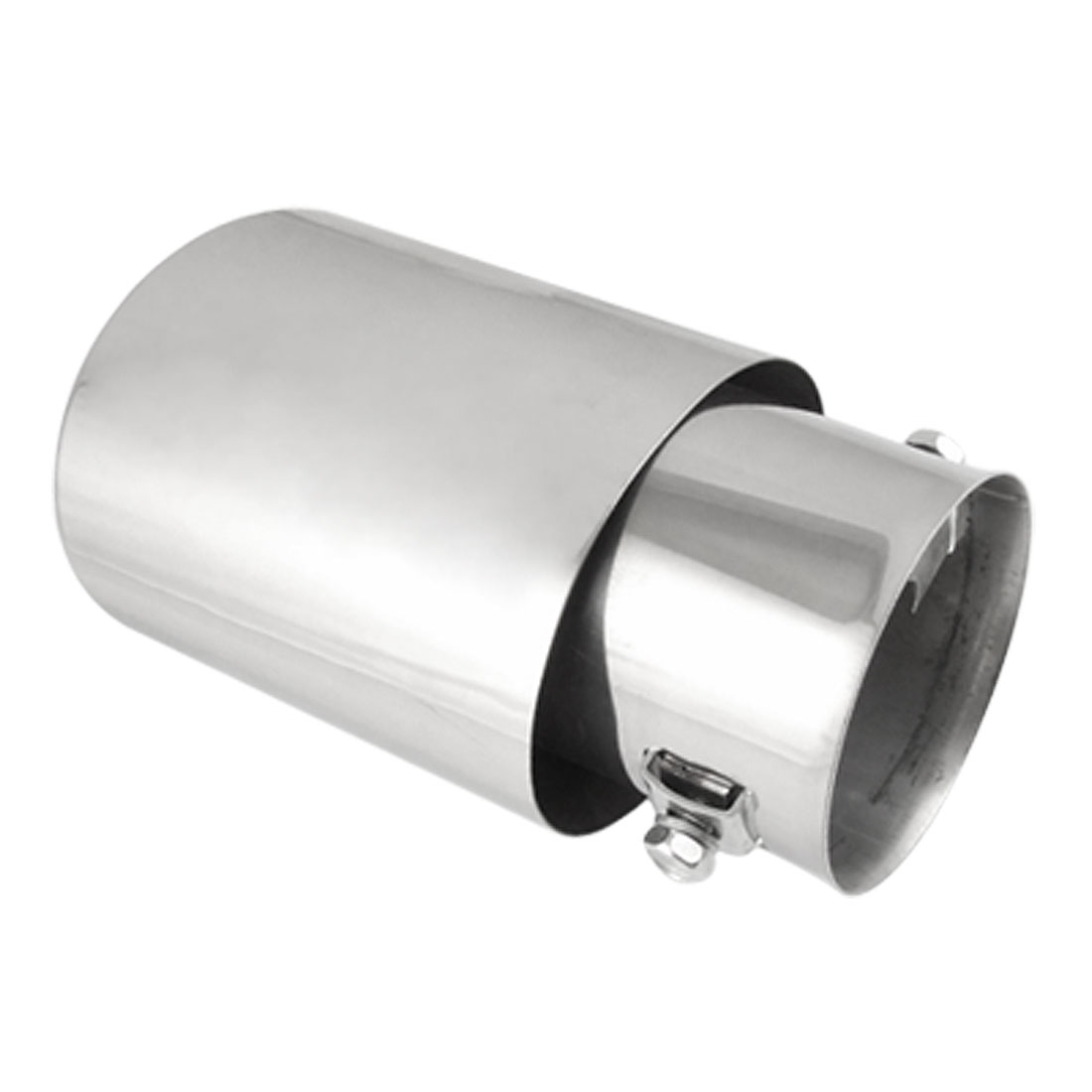 "2.4"" Inlet Dia Oval Angle Cut Metal Muffler Tail Tip for Car"