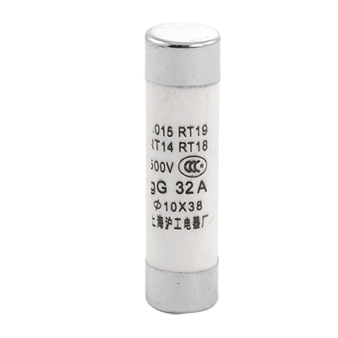 20 Pcs 10 x 38mm Cylindrical Fuse Links 500V 32A