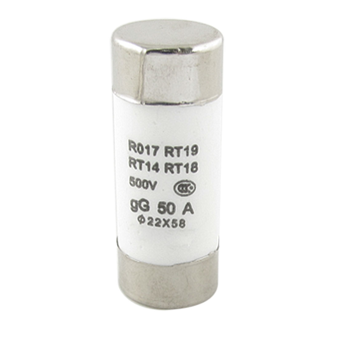 RO17 22 x 58mm 500V 50A Ceramic Tube Cylindrical Fuse Link