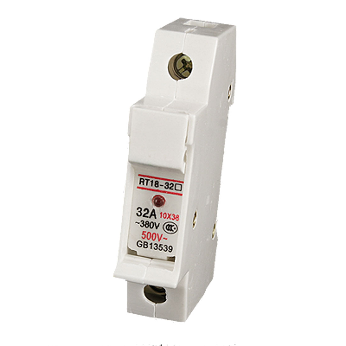 RT18-32A AC 380V 32A 10x38mm 1P Cylindrical Fuse Holder with LED