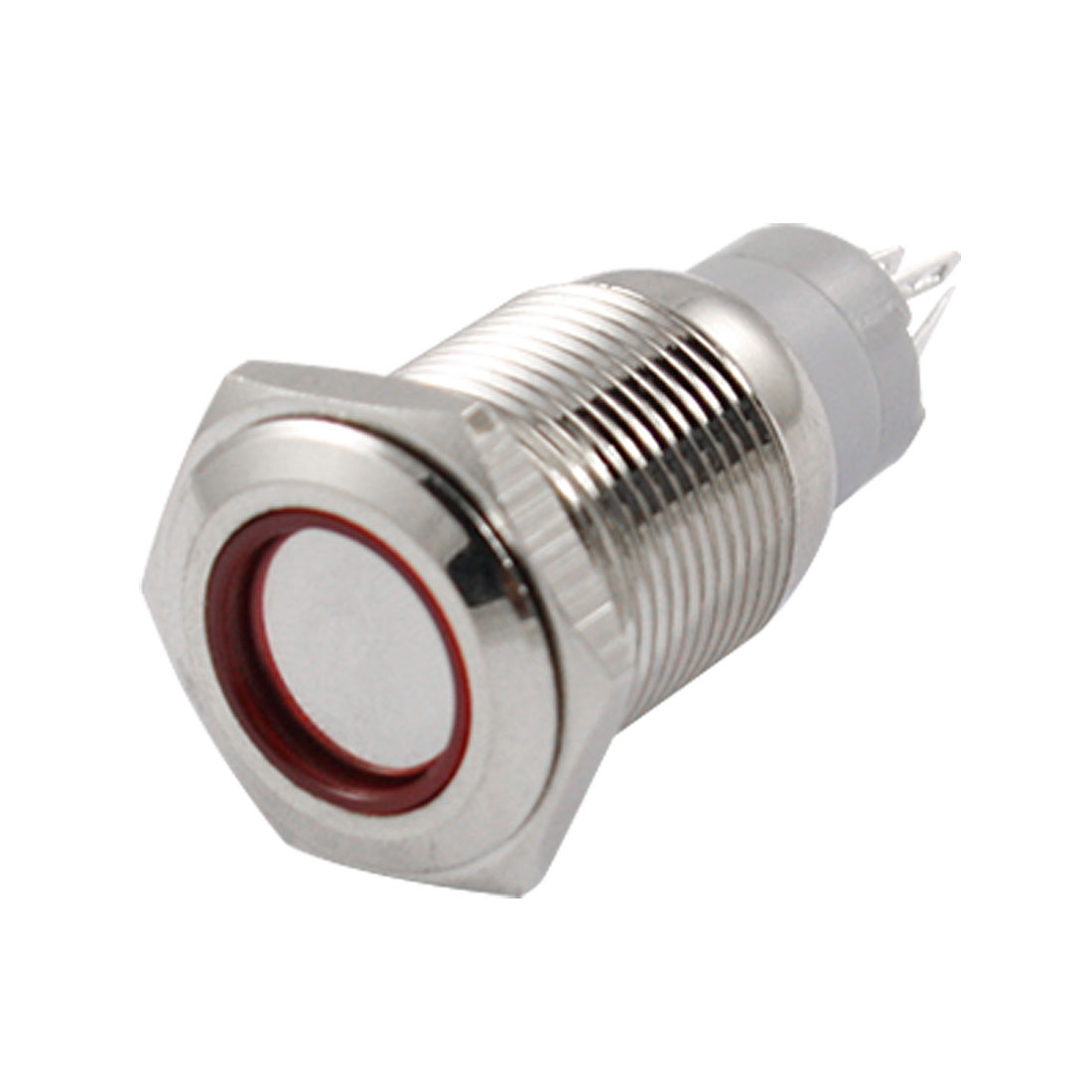 Angel Eye RED Led Light 16mm 12V Stainless Steel Switch Latching Push Button