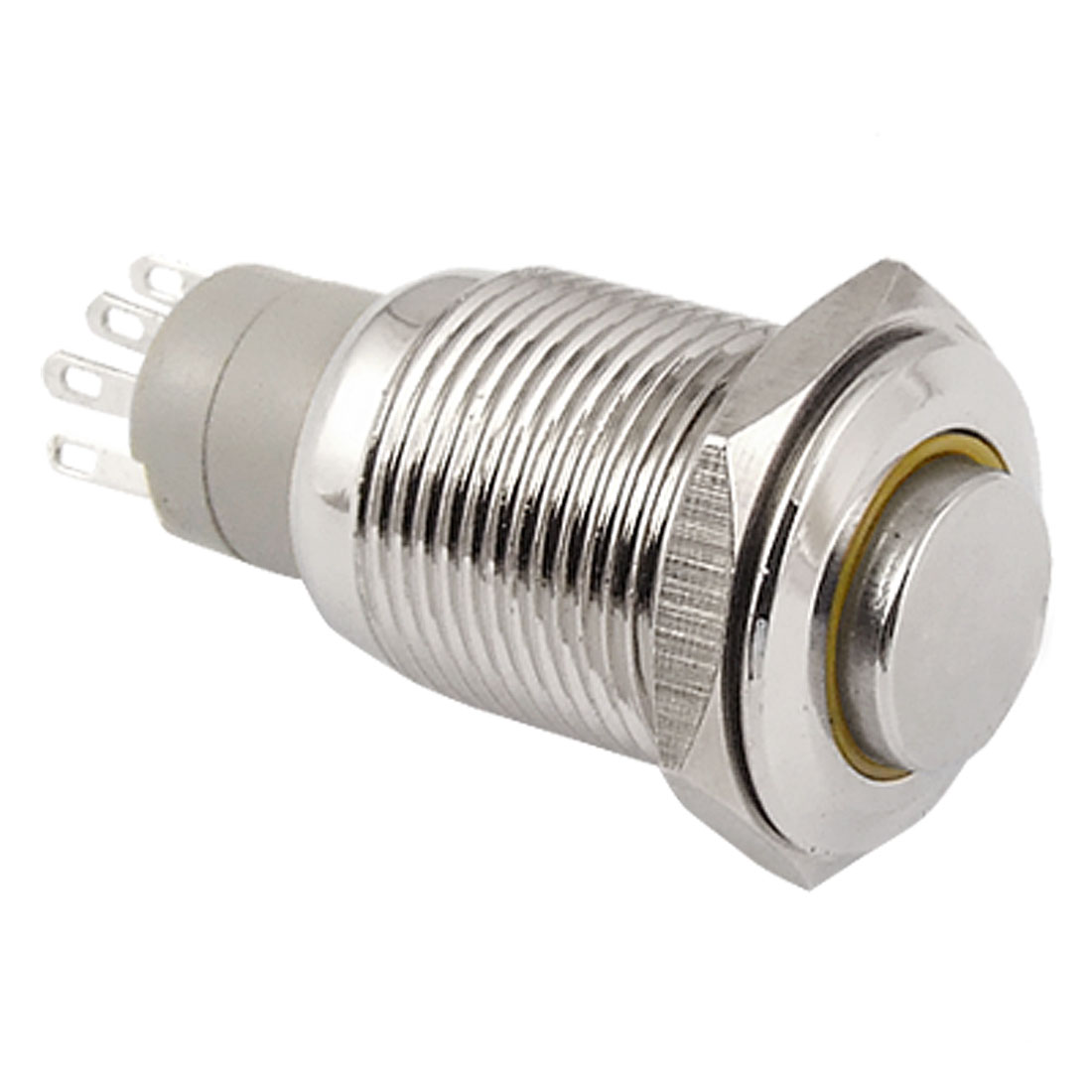 Angel Eye YELLOW Led Light 16mm 12V stainless Steel Momentary Push Button Switch