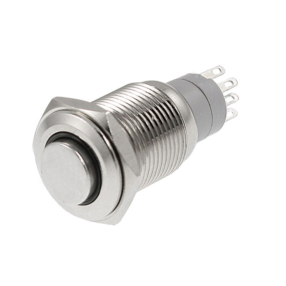 Angel Eye White Led 16mm 12V stainless Steel Round Momentary Push Button Switch