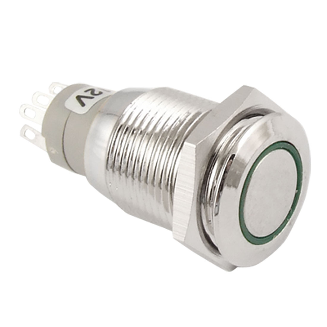 Angel Eye Green Led Light 16mm 12V stainless Steel Momentary Pushbutton Switch