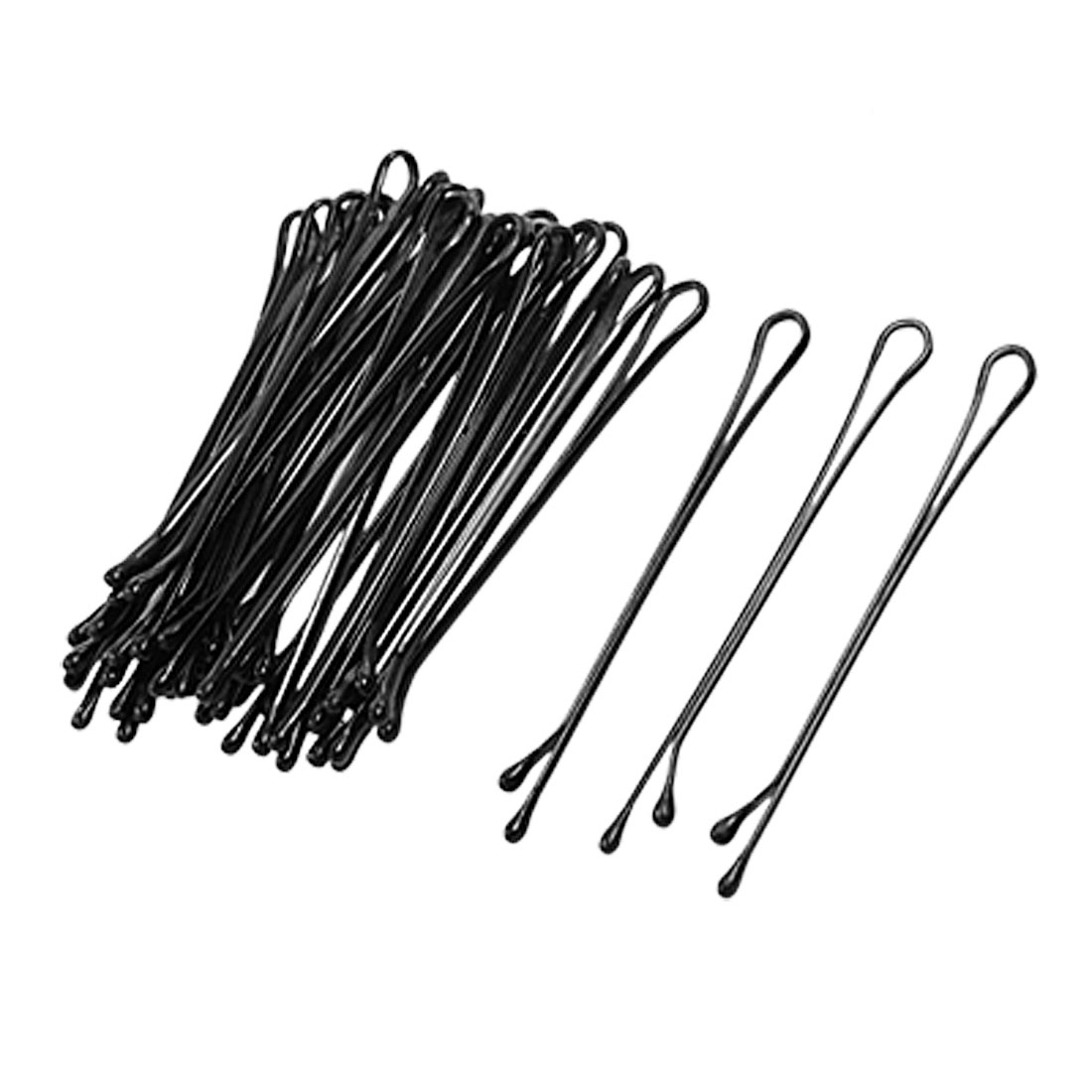 Lady Hair Barrette Bar Clips DIY Hairstyle Bobby Pin Black 32 Pcs
