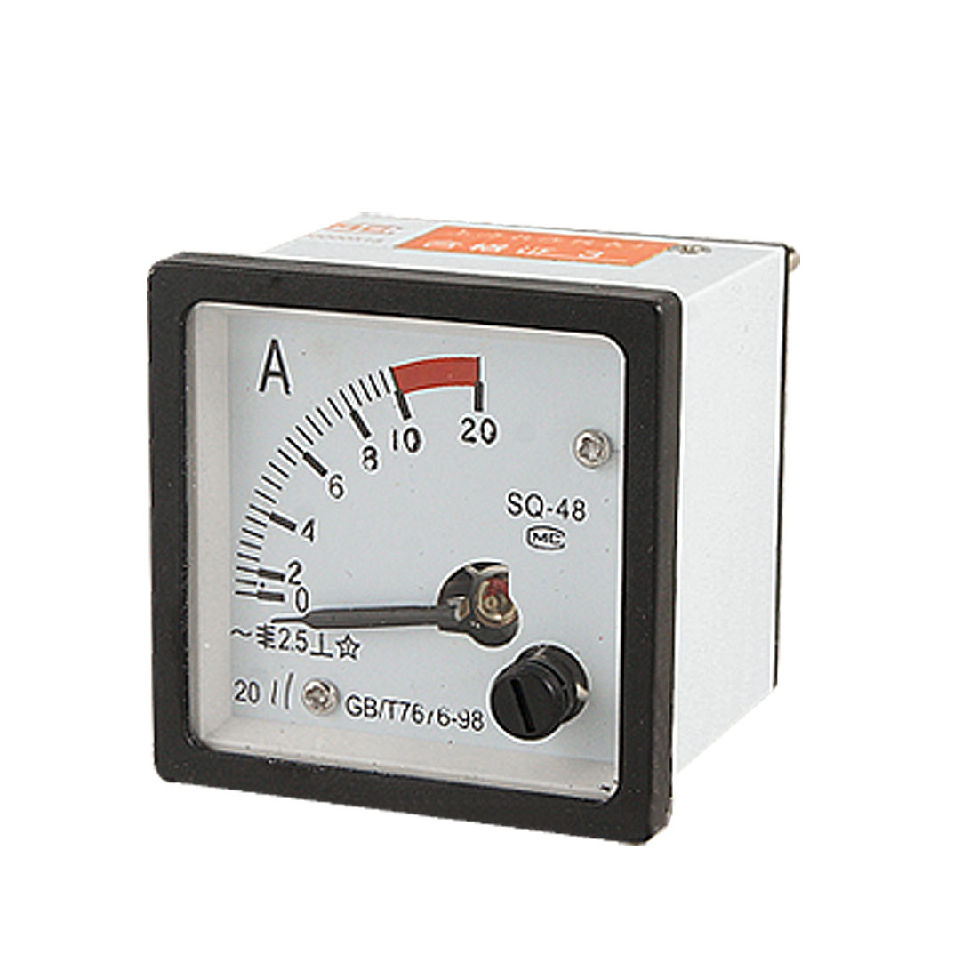 Analogue 0-10A AC Current Panel Meter Amperemeter Gauge SQ48