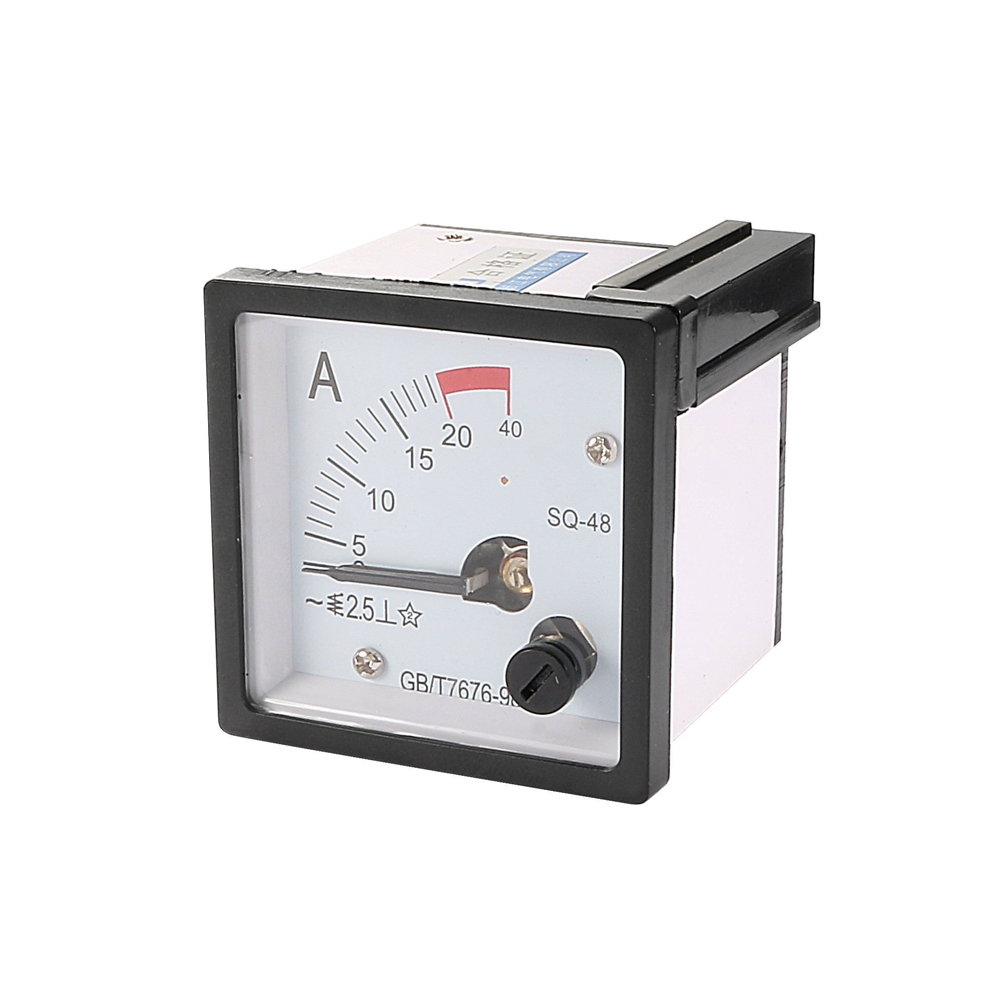 SQ48 Square Panel Analogue Amper Meter AC 0-20A Scale Ammeter Gauge