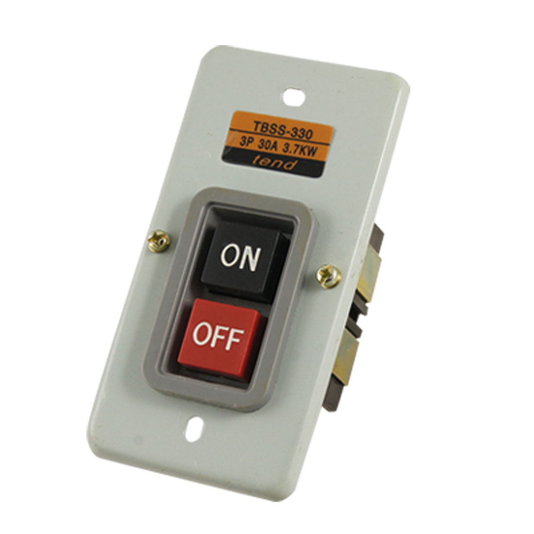 AC 380V 30A 3.7Kw NO OFF Dual Positions Power Push Button Switch
