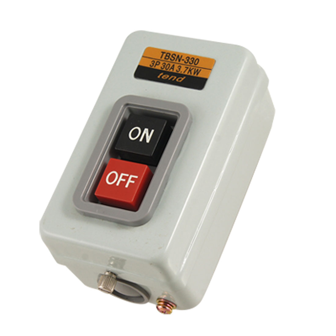 Rectangle Metal Box ON OFF Position Push Button Switch AC 380V 3.7Kw