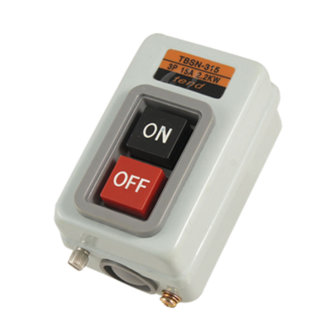 Three Phases Power Control Push Button Switch AC 380V 15A 2.2Kw