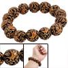 Ladies Dragon Phoenix Carved Hard Plastic Elastic Wrist Bracelet