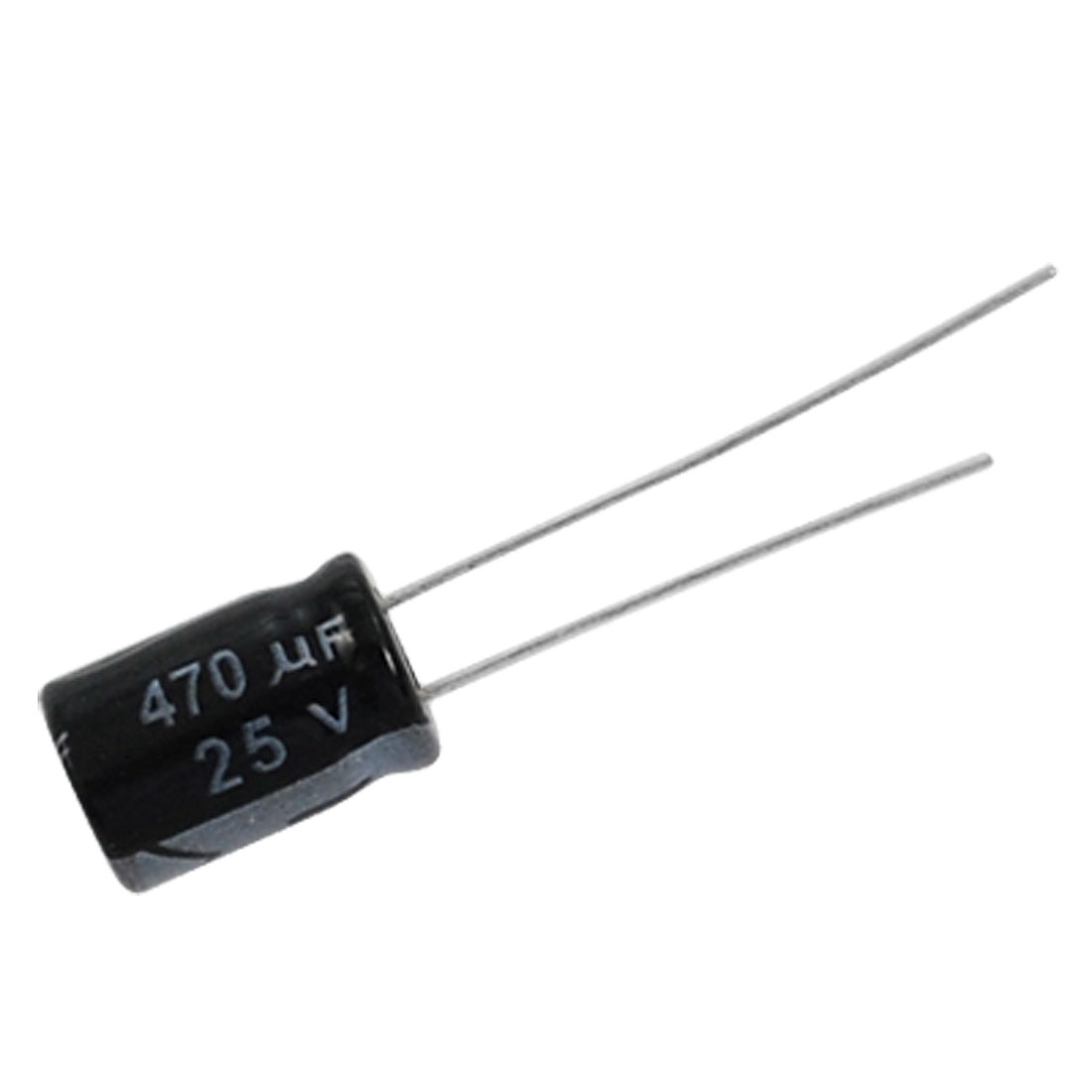 100 Pcs 8x12mm 470uF 25V Aluminum Electrolytic Capacitors