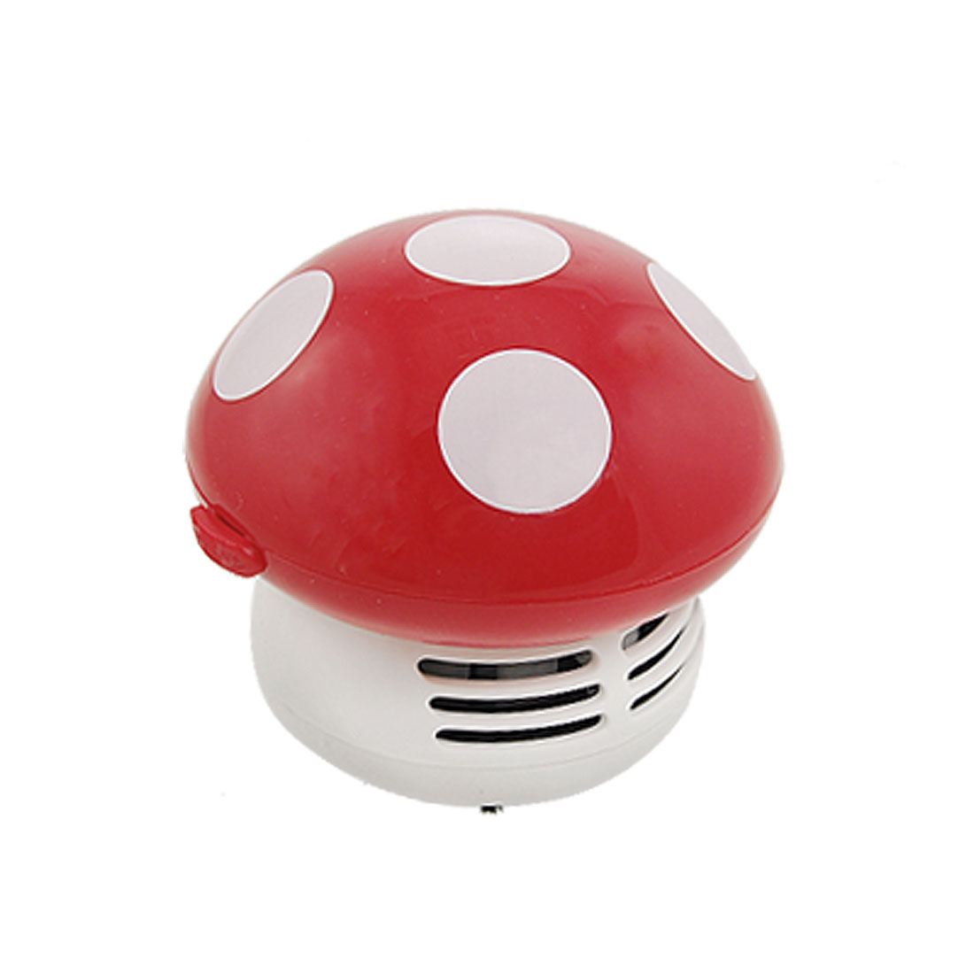 Home Office Handheld Mushroom Shape Dust Brush Desk Collector Red White