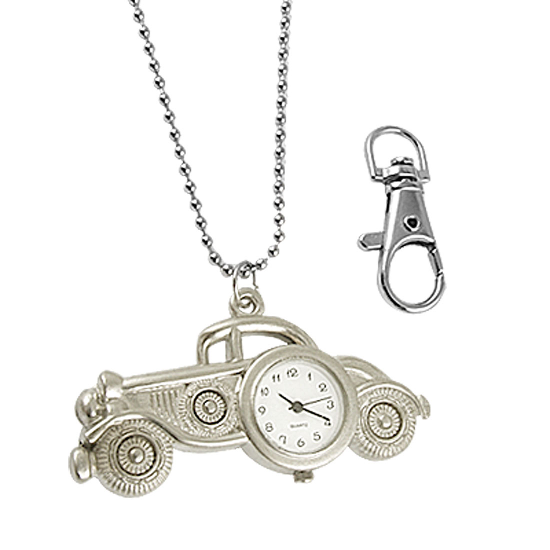 Lady Metal Vintage Car Pendant Necklace Quartz Watch