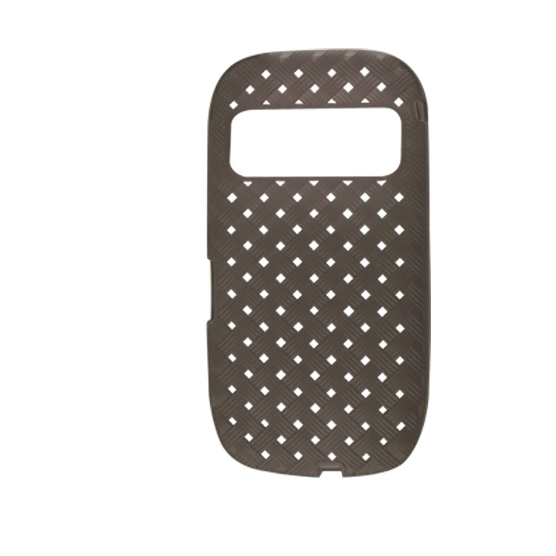 Grey Soft Plastic Square Hole Pattern Case for Nokia C7