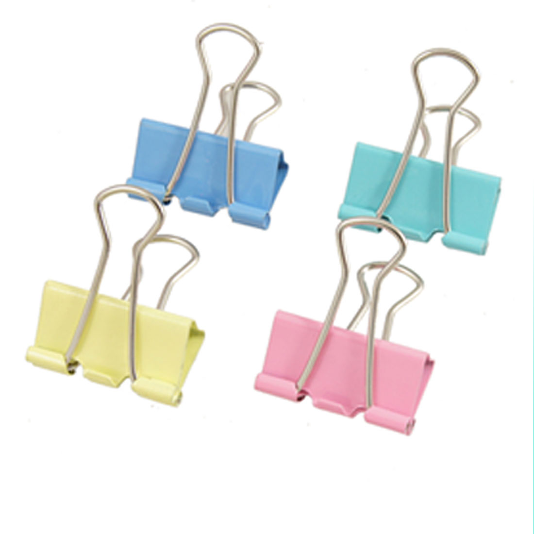 "48 Pcs 1"" Width Metal Assorted Color File Paper Foldback Binder Clips"