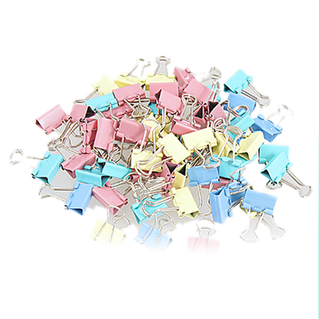 60 Pcs Metal Assorted Color File Paper Organizer Document Binder Clips Holders