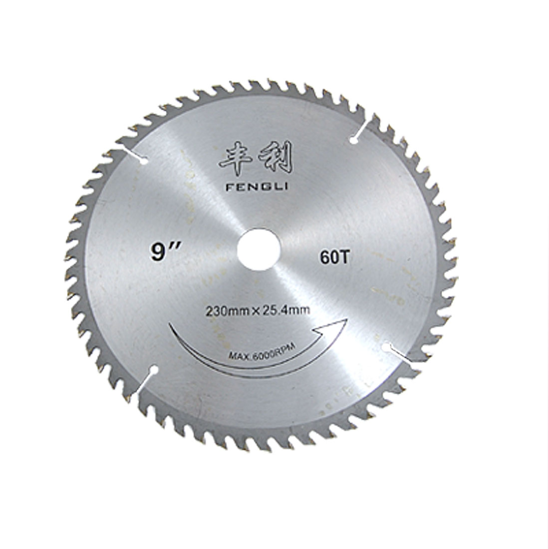 "6000 RPM Speed 9"" x 60T Saw Cutter Cutting Disc for Carpentry"