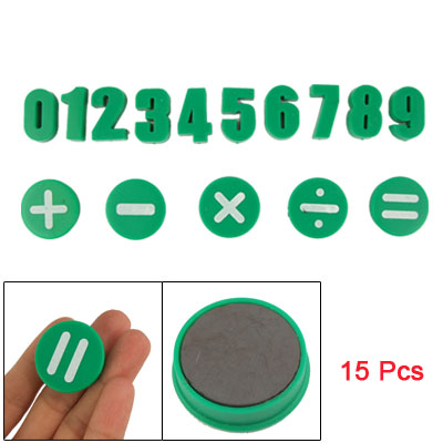 Home Magnetic Bean Numbers 0-9 Math Set Green