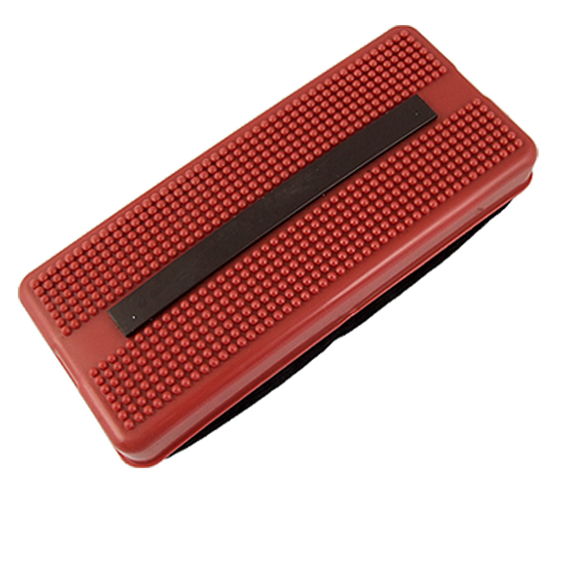 Red Plastic Black Corduroy Dry Erase Magnetic Whiteboard Eraser