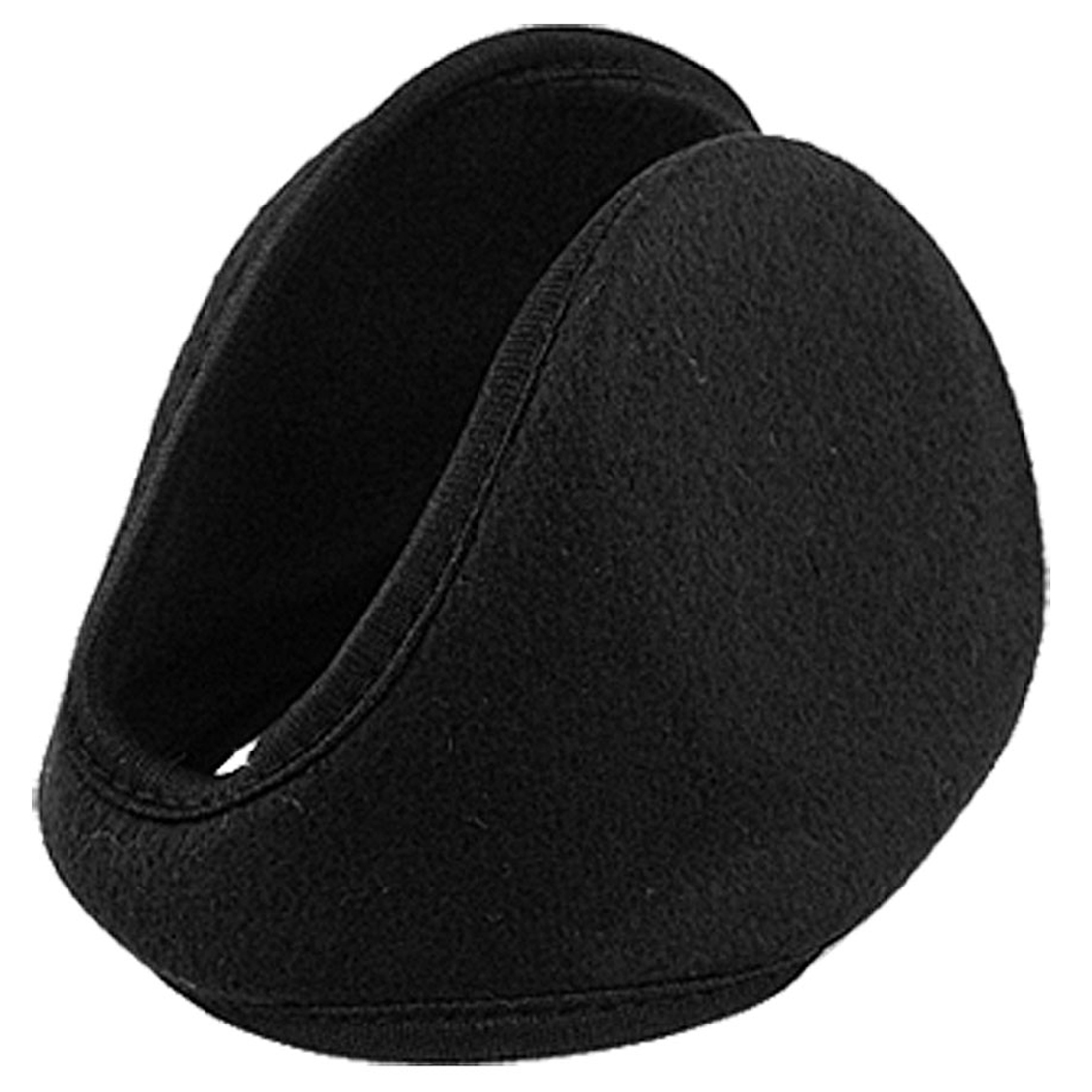Men Ladies Metal Frame Black Fleece Headwear Ear Warmer Earmuffs