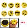 8 Pcs Fridge Door Magnetic Bean Yellow Emoticon Sticker