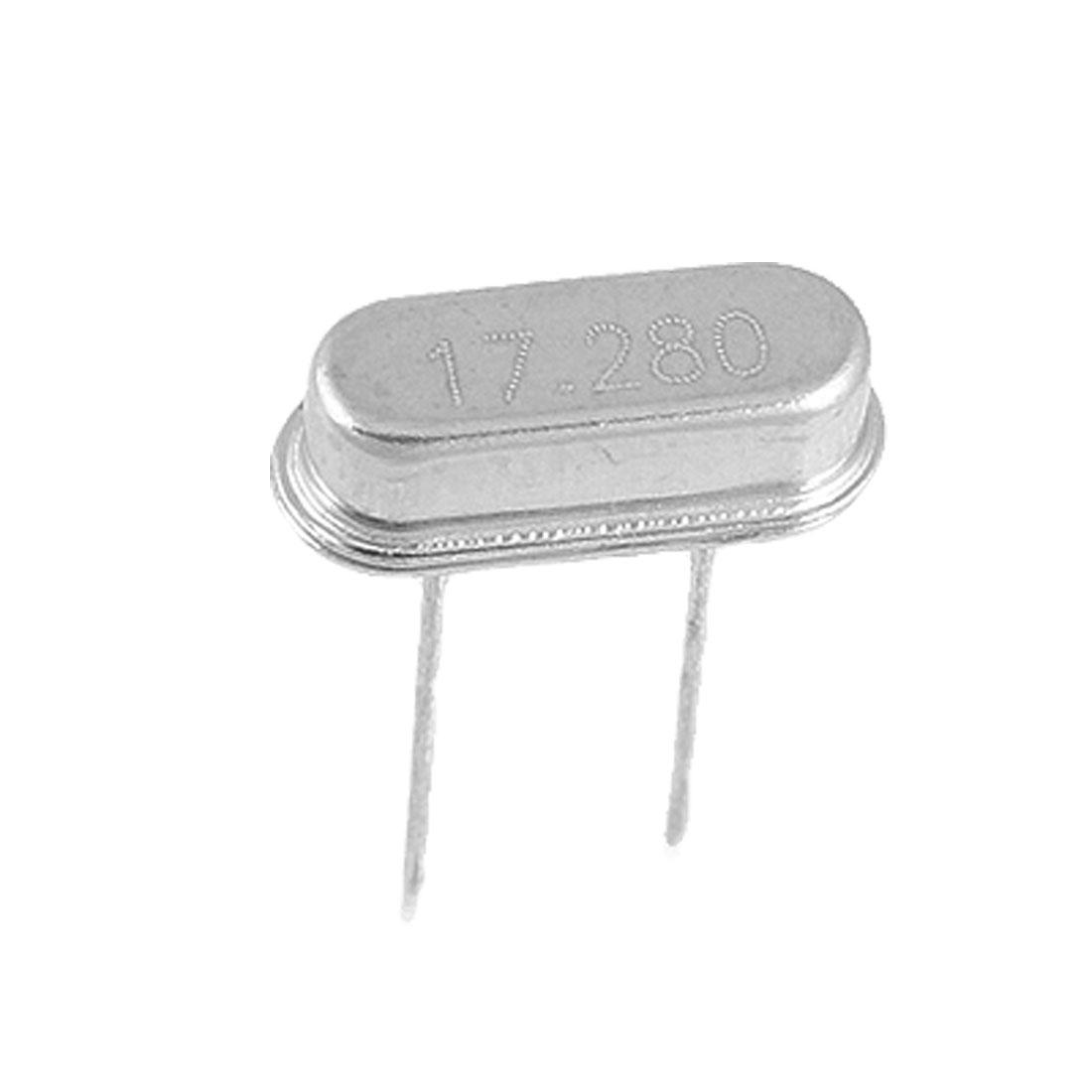50 Pcs 17.280MHZ DIP Crystal Oscillator HC-49/S New