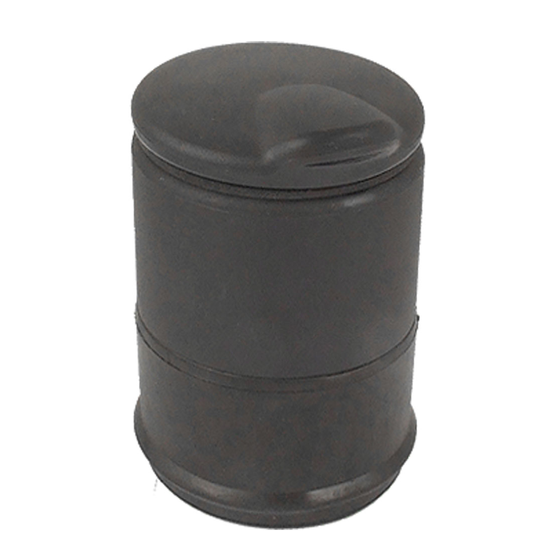 Portable Cylinder Shaped Plastic Rubber Ashtray Black