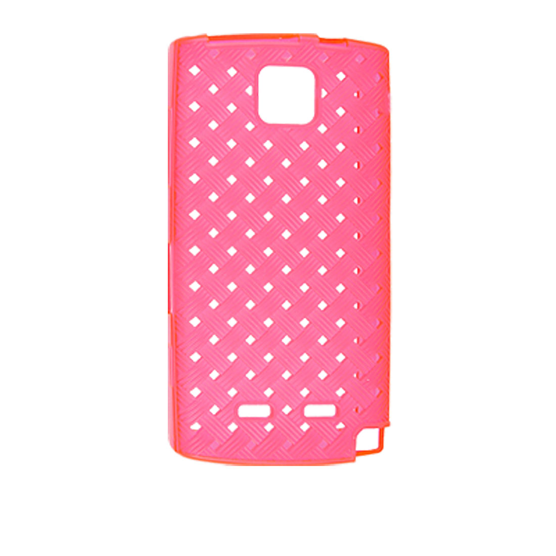 Antislip Hot Pink Plastic Soft Weave Case Cover for Nokia 5250