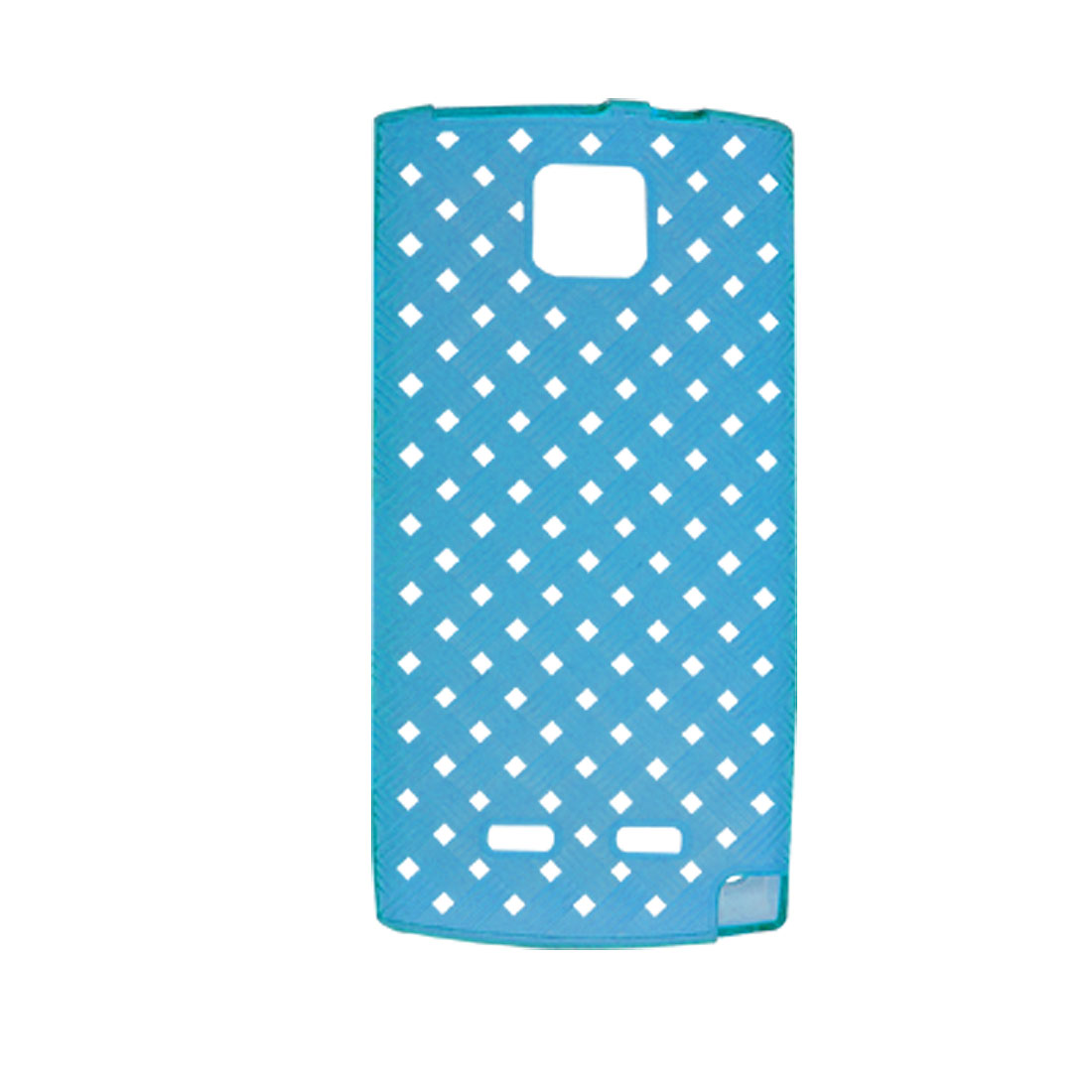Blue Soft Plastic Woven Pattern Cover Case for Nokia 5250
