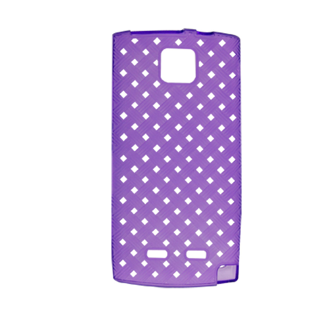 Protective Soft Plastic Weave Style Cover Purple for Nokia 5250