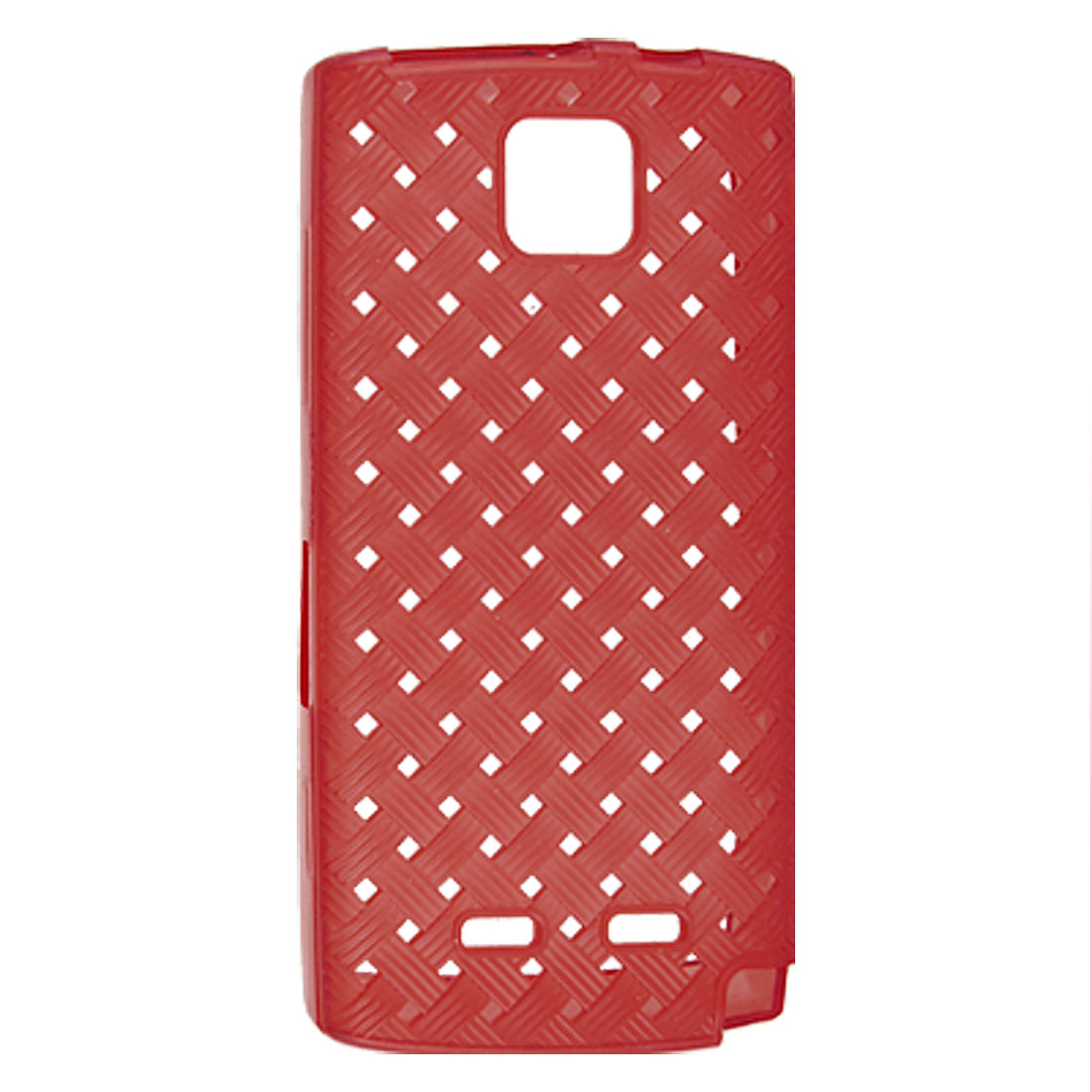 Protective Red Soft Plastic Weave Pattern Case for Nokia 5250