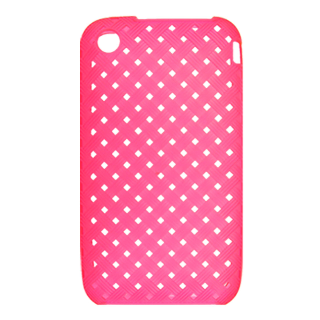 Protective Magenta Weave Design Soft Plastic Case for iPhone 3G 3GS