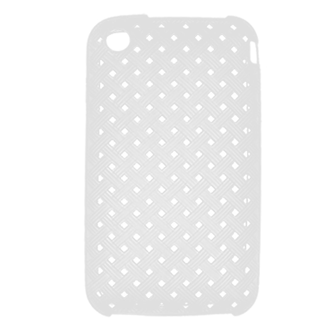 Nonslip White Soft Plastic Case Protector for iPhone 3G 3GS