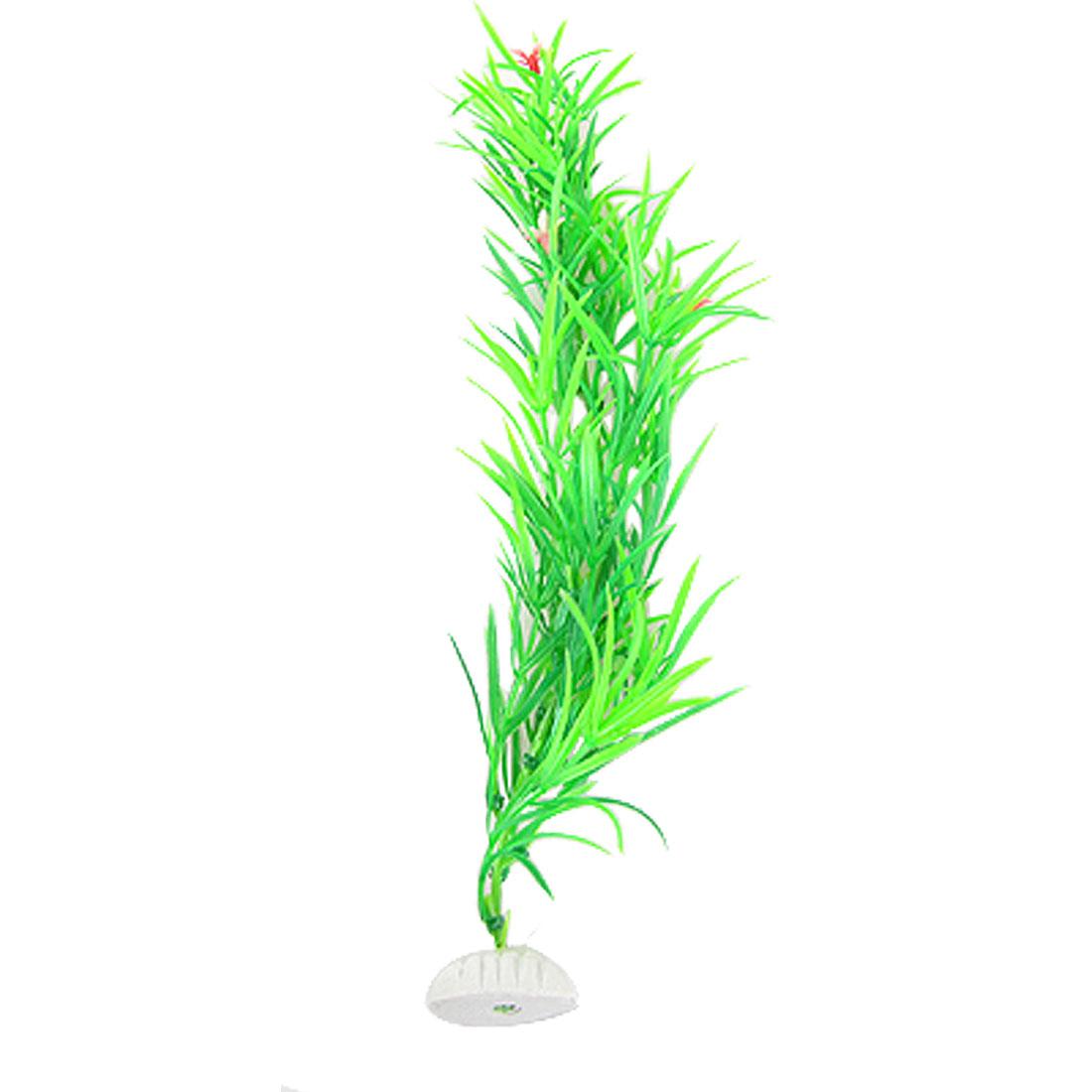 Aquarium Aquascaping Plastic Grass Red Flower Green Plants