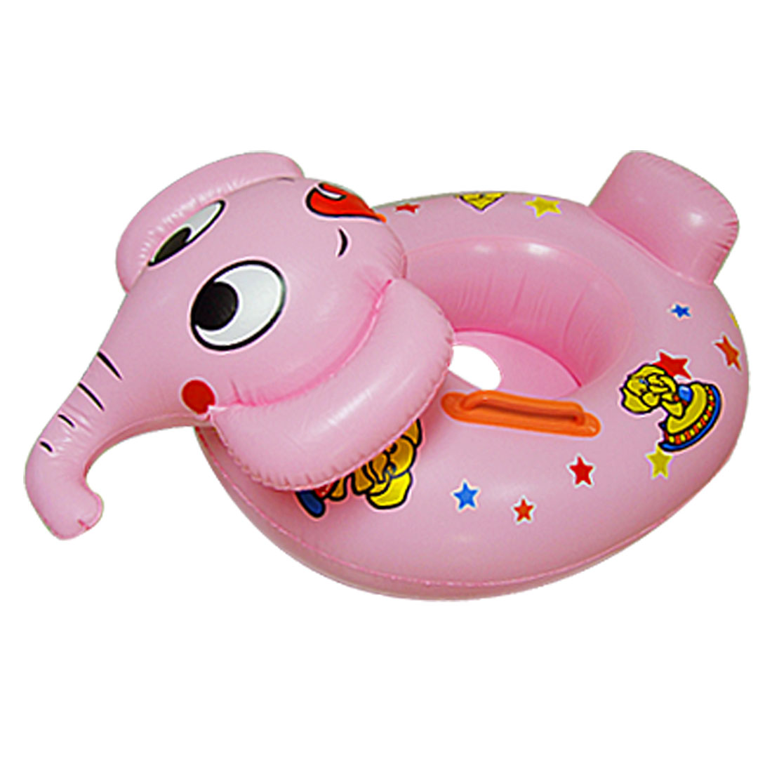 Baby Toddler Star Printed Elephant Shaped Swimming Pool Ring Pink