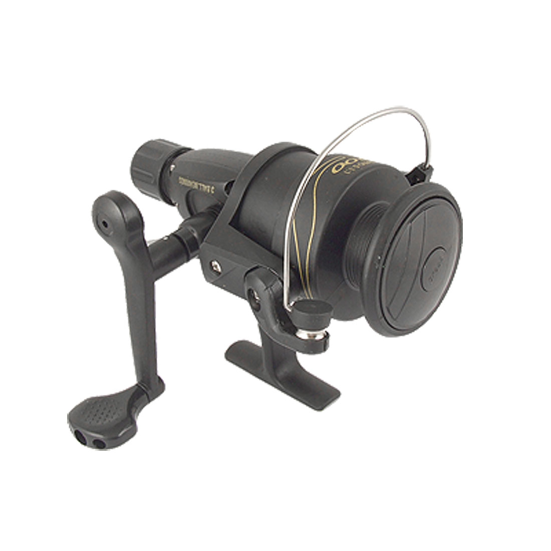 Gear Ratio 5.1:1 3-Ball Bearings Black Fishing Spinning Reel