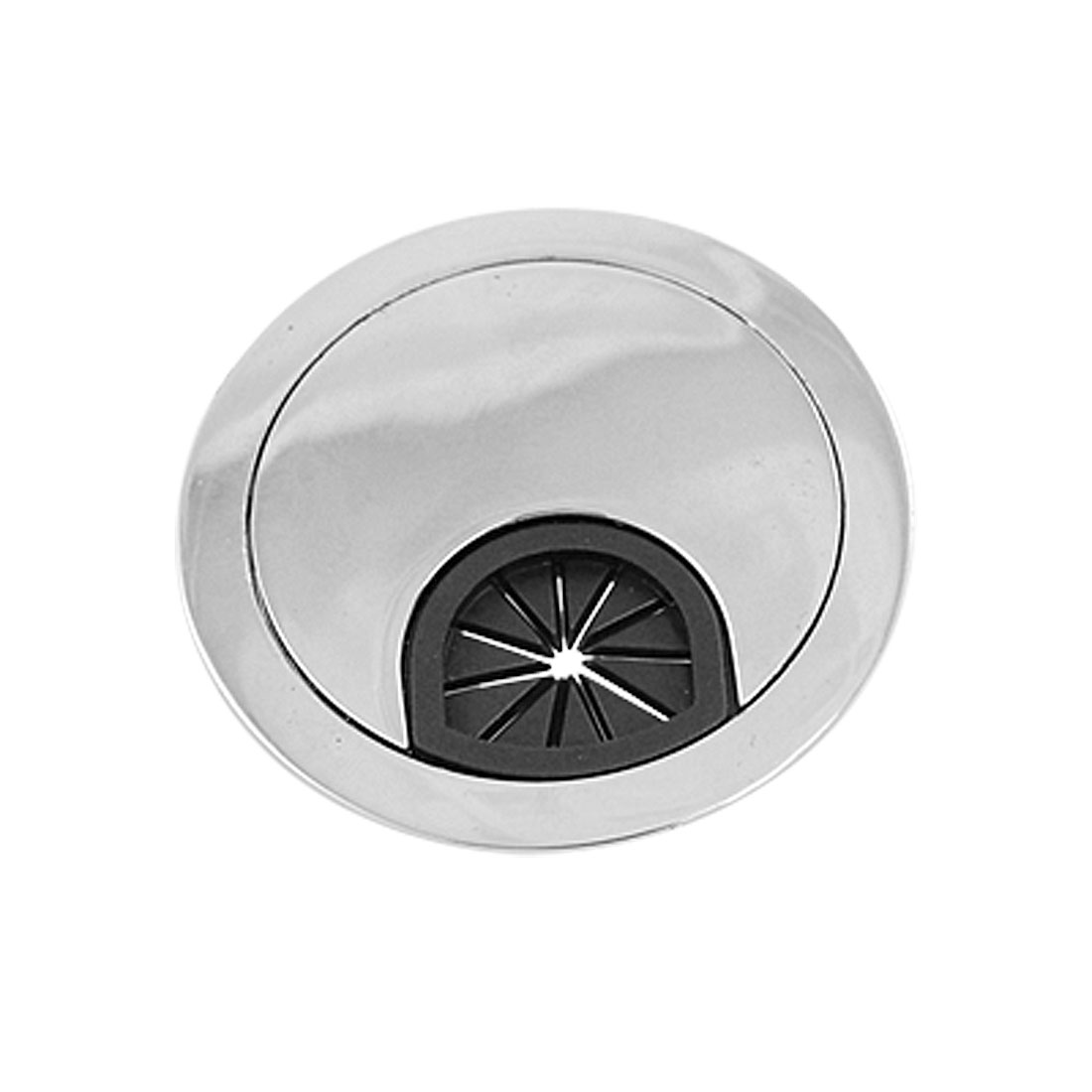Round Plastic Hole Stainless Steel Cable Hole Cover Silver Tone