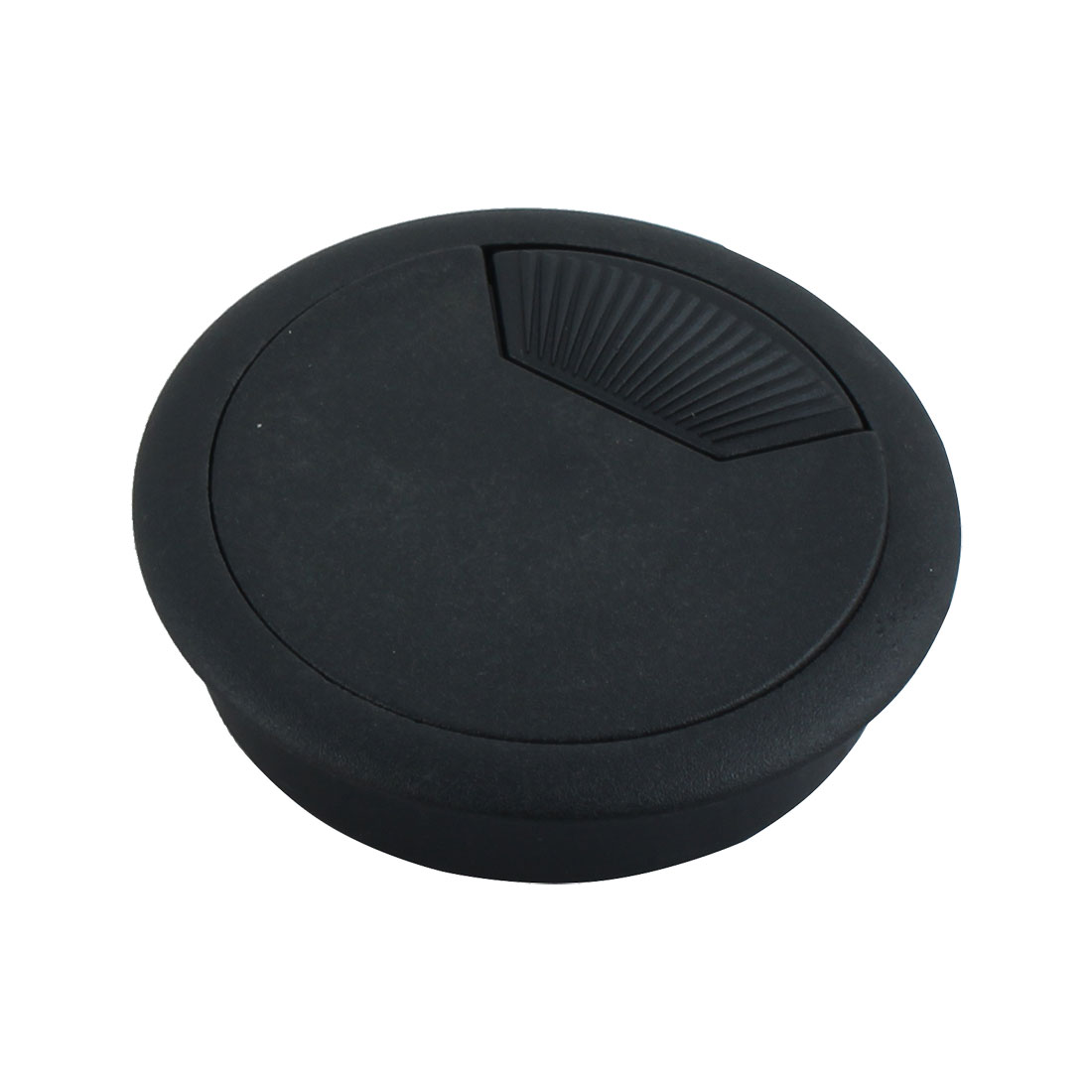 Desk Table Computer Plastic Grommet Cable Hole Cover 5.6cm Dia Black